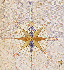Compass rose from Catalan Atlas (1375).jpg